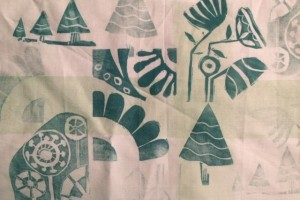Printing with lino on fabric